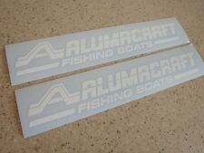 "AlumaCraft Vintage Fishing Boat Decals 12"" 2-PAK FREE SHIP + FREE Fish Decal!"