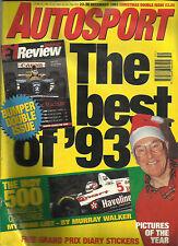 AUTOSPORT MAGAZINE 23-30 DEC 1993 BEST OF '93 PICTURES INDY 500 MURRAY WISH LIST