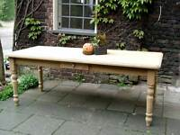 Tisch Esstisch Massivholz Esszimmer Landhaustisch Massiv 180 cm natur M03 Neu