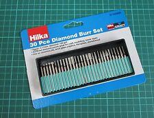 30pc Hilka Diamond Burr Set Glass Engraving Fits Most Rotary Tool Drill Bits