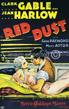 Red Dust Clark Gable Jean Harlow Vintage Movie 11x17 Poster