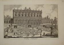 Stampa antica Villa Albani Roma Pulini 1787 old print gravure kupferstich rome