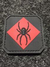 MIL SPEC MONKEY RED BLACK SPIDER tactical PVC rubber MORALE PATCH