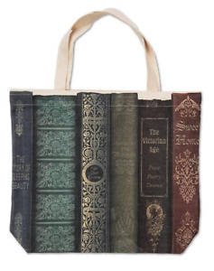 Victorian Trading Co Old Book Tote Bag Canvas ~ Jane Austen ~ Durable Tote