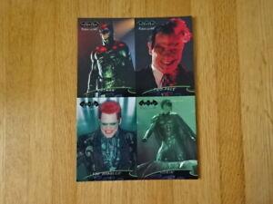 RARE 4-CARD UNCUT PROMO SHEET OF FLEER ULTRA BATMAN FOREVER MOVIE TRADING CARDS!