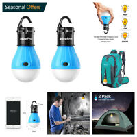 2 Pack Emergency Outdoor Light Portable LED Tent Lamp Camping Lantern Camp Bulb