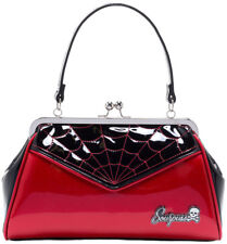Sourpuss Backseat Baby Red Web Emo Punk Rockabilly Goth Purse Handbag SPPU66