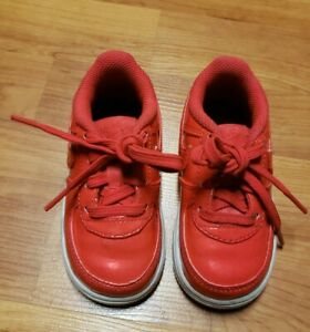 Infant Nike Air Force 1 LV8 UV Siren Red/ White - Size 6C