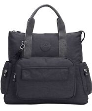 Kipling Alvy 2-In-1 Convertible Backpack Tote Black /gray medium new