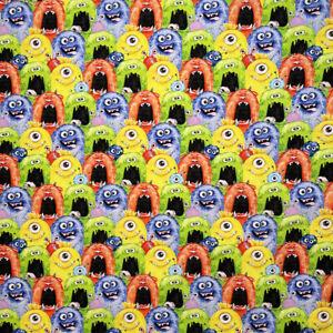 0.5 metre Little Monsters Digital Cotton 100% Cotton Fabric 140cm wide