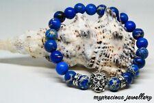 Natural Gemstone Sea Sediment Jasper Bracelet 8mm Silver Healing Stone Gift