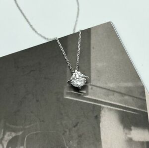 925 Sterling Silver Small Saturn Necklace