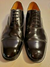 Paul Smith Black Leather Men's Dress Shoes Cap Toe Oxford Size 7.5/ 41.5  Italy