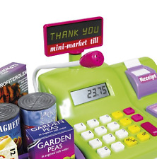 Learning Kids Cash Register Play Set Toy Scanner Money Electronic Fun Education