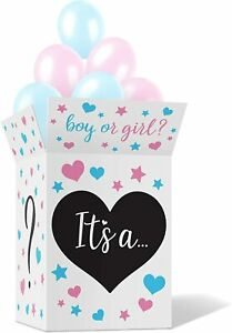 Gender Reveal Box w/ Sealing Stickers - Baby Boy and Girl Stickers Not Included