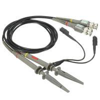 2Pcs Oscilloscope Probe BNC Alligator Clip Ground Lead Test Tool 20MHz 1X 10X