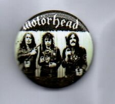MOTORHEAD BUTTON BADGE - ENGLISH CLASSIC ROCK / METAL BAND   LEMMY 25mm PIN