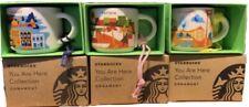 Starbucks Thailand Phuket Pattaya YAH Ornament Mug Set You Are Here NIB -no card