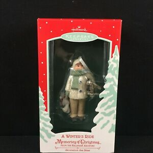 Hallmark Keepsake Ornament Winter's Ride Memories Of Christmas Linda Sickman