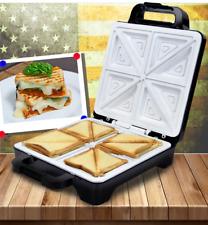 4er Sandwichmaker Sandwichtoaster mit Keramikplatten 1600 watt Schwarz/edelstahl