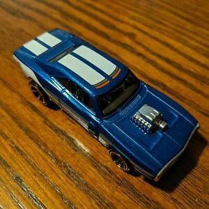 '70 Dodge Charger R/T (Dark Blue) - Muscle Mania - Hot Wheels Basic Loose (2020)