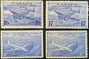 #CE1-4  - Canada - 1942-46 - Special Delivery - MNH - VF  superfleas - cv$32