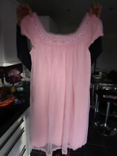 VINTAGE ST MICHAEL'S PINK NIGHTIE 32 / 34 1970's