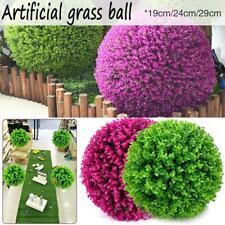 19/24/29CM Artificial Green Grass Ball Plant Topiary Hanging Home Garden Decor