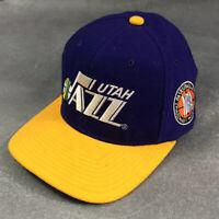 Vintage Starter Utah Jazz Fitted Sz 7 Wool Baseall Hat Cap NBA Purple