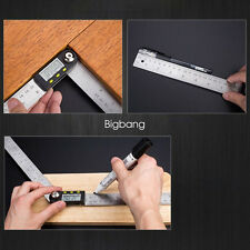 "7""Electronic Protractor Digital Goniometer Angle Finder Miter Gauge Ruler Useful"
