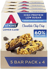 Atkins High Protein Bar Keto Snack Low Carb Low Sugar Assorten Taste  Snack Bar