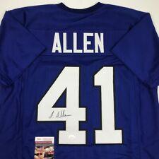 Autographed/Signed JOSH ALLEN Kentucky Blue College Football Jersey JSA COA Auto