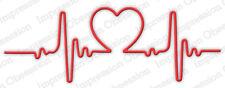 HEART BEAT DIE-Impression Obsession/IO Stamps (DIE619-N)-Steel/Wafer-Valentine