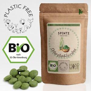 400 Stück Bio Spirulina Chlorella Presslinge 500 mg je Tab |200g Algen Tabletten