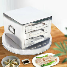 3 Tiers Food Steaming Cooker Rice Noodle Steamer Drawers Kitchen Steaming Pot