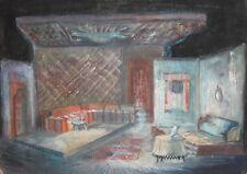 Vintage Pastel Painting Theatre Scene Design