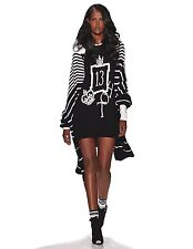 $7,000 Spring 2015 Zang Toi New York Runway Black pearl cashmere sweater dress S