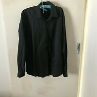 Jonathan Adams Black Dress Shirt Size M Mens