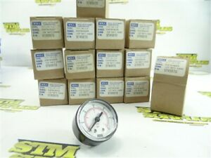 "14 NEW! WIKA INDUSTRIAL PRESSURE GAUGES 1/8"" NPT 60PSI/BAR 9749870 HTL"