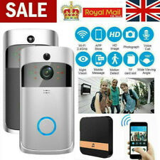 Wireless WiFi Video Doorbell Smart Phone Door Ring Intercom Camera Security Bell