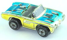 Micro Machines Vehicle Car 1963 Ford Thunderbird Silver Glossy Convertible Funny