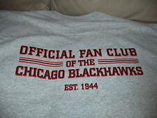 CHICAGO BLACKHAWKS OFFICIAL FAN CLUB SHIRT XL NEW LONG SLEEVE GRAY