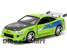 JADA 1:32 BRIAN'S 1995 MITSUBISHI ECLIPSE FAST & FURIOUS MOVIE DIECAST 97609