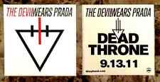 THE DEVIL WEARS PRADA Dead Throne Ltd Ed RARE Sticker +FREE Metal Punk Stickers!