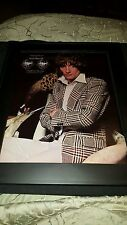 Rod Stewart A Night On The Town Rare Original Promo Poster Ad Framed!