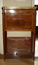 MAGNIFICENT 1900 FRENCH WOODEN MARBLE SIDE TABLE, COMMODE WITH DRAWER 'SIGNED'