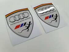 Audi TT TTS RS A1 A3 A4 A6 QA7 S3 S4 80mm Wing / Panel Badges Stickers styling