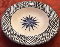 "Casual Victoria Beale WILLIAMSBURG Porcelain Rimmed Soup Bowls 8 3/4"" EUC"
