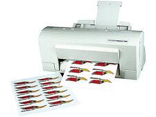 Sattleford Klebefolie wetterfest A4 für Laserdrucker weiß Sticker selbst drucken