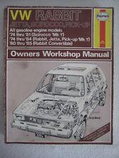 Haynes VW Volkswagen Rabbit Jetta Scirocco Pick-Up 1974-1985 Workshop Manual